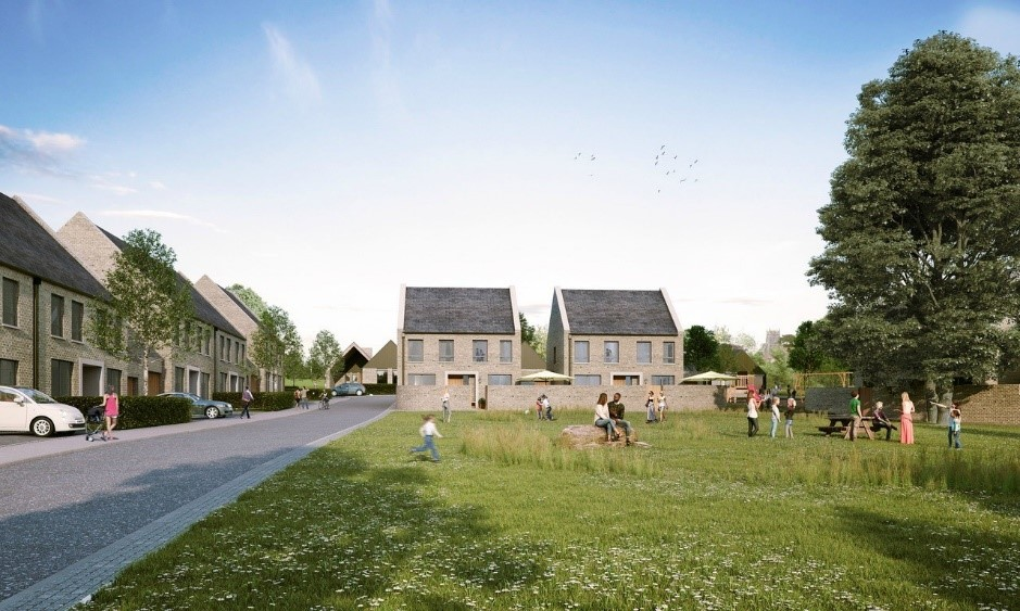 CGI of Castle Cary development