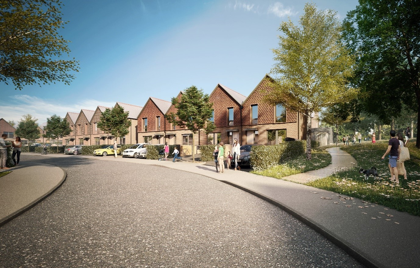 CGI of Westbury development