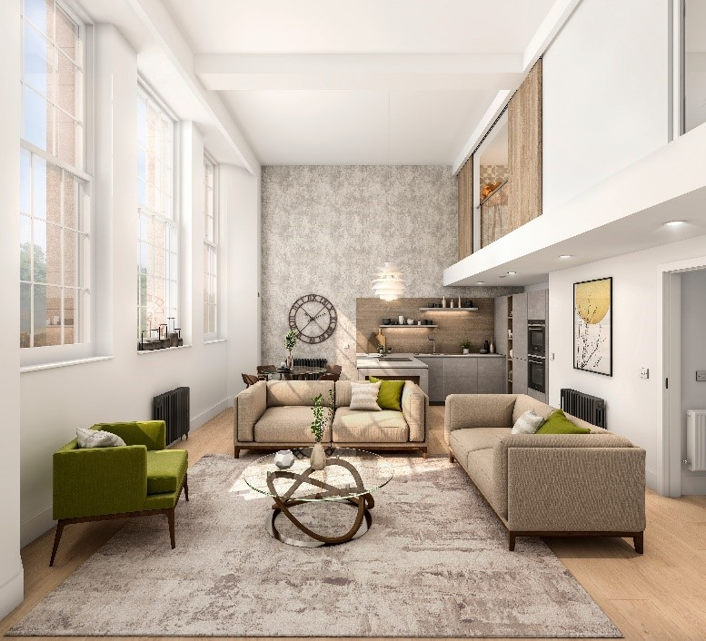 CGI of internal apartment space