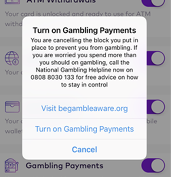 Starling Bank launches gambling blocker technology